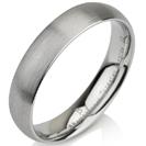 טבעת נישואין מטונגסטן ברוחב 5 ממ בגימור כסף מט
