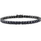 """צמיד יהלומים שחורים לגבר עשוי כסף 925 מוטבל ברודיום שחור המשובץ בכ- 58 אבני קריסטל שחור ברוחב 2 מ""""מ באורך 20 ס""""מ."""