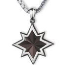 תליון לגבר Shinning Star העשוי 925 כסף מושחר