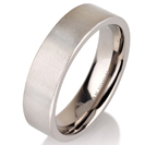 Titanium wedding bands - Delicate brushed titanium ring - 6mm