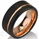 Black Tungsten Ring Rose Gold Wedding Band Ring Tungsten 9mm 18K Tungsten Ring Man Band Male Women Rose Gold Ring