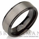 Black Tungsten Ring Gun Metal Tungsten Carbide Wedding Band Anniversary Ring Engagement Band Tungsten Wedding Band