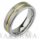 Yellow Gold Wedding Band Ring Tungsten Carbide 6mm 14K Tungsten Brushed Ring Man Wedding Band Male Women Comfort Fit Anniversary