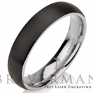 Black Tungsten Ring Wedding Band Ring Tungsten Carbide 5mm Tungsten Ring Man Wedding Band Male Women Domed Comfort Fit