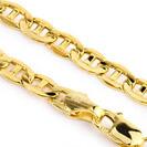 """שרשרת זהב לגבר בעיצוב עבה 4 מ""""מ ובאורך 60 ס""""מ מזהב 14K"""