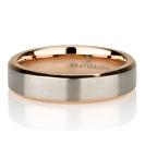 """טבעת טיטניום לגבר ברוחב 5מ""""מ ובשילוב ציפוי זהב אדום 14 קראט"""