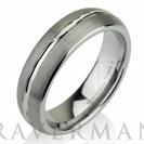 Domed Men's Tungsten Ring Mens Wedding Band Brushed Custom Tungsten Ring 6mm Tungsten Ring Man Wedding Band Tungsten Wedding Band Men