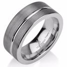 Black Gunmetal Tungsten Ring Wedding Band Ring Tungsten 9mm Tungsten Ring Man Wedding Band Male Women Stripe