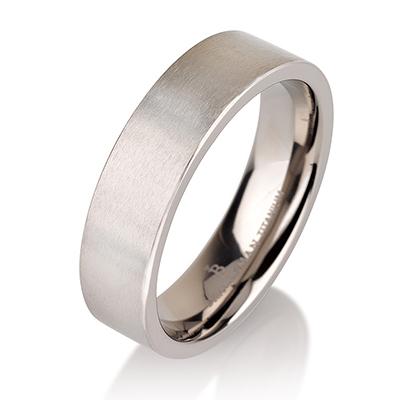 Titanium wedding bands - Delicate brushed titanium ring - 6mm