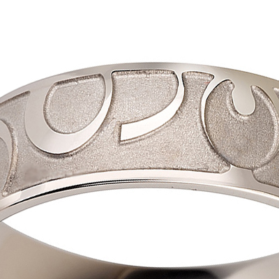 Titanium wedding bands - Hand engraved titanium ring - 7mm