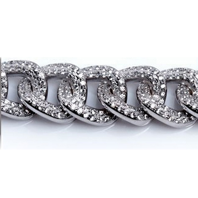 Mens Bracelets - Sterling Silver 925 Bracelet with cz stone possible length - 16.5, 17.8 19 20.3 or 21.6cm