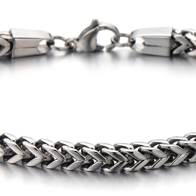 Mens Bracelets - Braided titanium bracelet 4.5cm wide and 22cm long