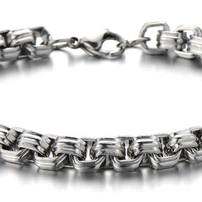 Mens Bracelets - 'Rolo' titanium bracelet 8.5mm wide and 23cm long