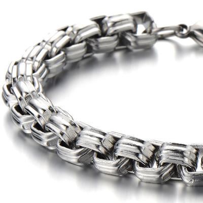 Mens Bracelets - 'Rolo' titanium bracelet 8.5mm wide and 23cm long
