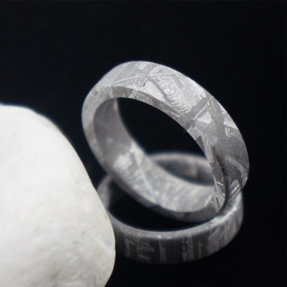 Tough By Braverman Jewelry Flat Meteorite Ring Natural Band Gibeon