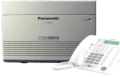 מרכזיית פנסוניק -3 קווים + 8 שלוחות, ניתנת להרחבה + טלפון חכם
