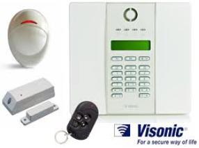 """מערכת אזעקה אלחוטית """"PowerMax Express"""" עם 2 גלאים ושלט עם אפשרות לחייגן סלולארי (GSM)"""
