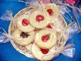 ראש השנה - עוגיות ויטראז´ תפוחים ורימונים ארוזות בסלסלה
