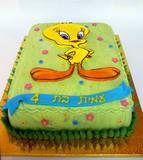 טוויטי - עוגה מצויירת לעמית בת ה-4