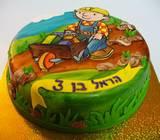 בוב הבנאי ומריצה - עוגה מצויירת להראל בן ה-3
