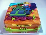 בוב הבנאי ורולי המכבש - עוגה מצויירת לאמיר בן ה-4