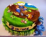 בוב הבנאי - עוגה מצויירת לעומרי בן ה-3