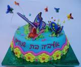 עוגת פרפרים אביביים