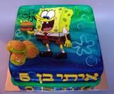 עוגת בוב-ספוג ועוגיות סרטנים-מצויירת, לאיתי