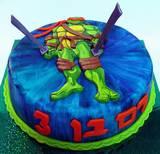 צבי הנינג´ה - עוגה מצויירת לרם