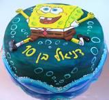 עוגת בוב-ספוג מצויירת לדניאל