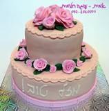 עוגת קומותיים - ורדים