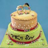 עוגת חתונה בהשראת ההזמנה...