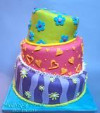 עוגת חתונה שגיונית וצבעונית...