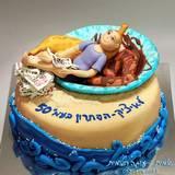 עוגת יום הולדת 50 לאחי - שאוהב לרוץ בים (חסרות נעלי ההתעמלות...), לקרוא עיתונים ולפתור תשבצים. גם בדיחה פרטית על בננות מטוגנות...