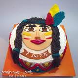 עוגת אינדיאנית בדו מימד - לשירה בת ה-7