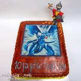 עוגת הדרקון כחול העיניים -  מתוך קלפי יו-גי-הו - לאילון בן ה-10