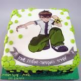 עוגת בן-10 מצויירת לשירה בת ה-7...