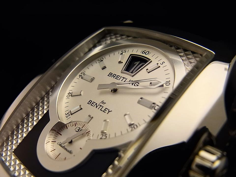 by chronograph stainless ss steel breitling bentley mens white