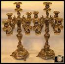 German Antique Solid Silver Sabbath Candelabra