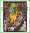 "Mosaic ""Chagall"" Jew in Green"
