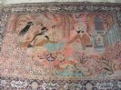 Antique Persian Silk Rug Omar Khayyam