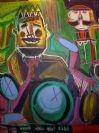 Noah Lubin Oil Two Musicians