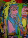 Noah Lubin Abstract Scene Two figures