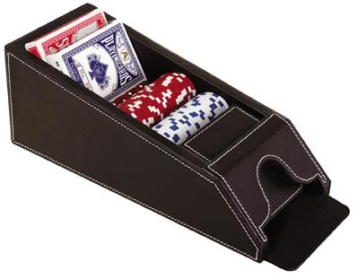 ערכת חלוקת קלפים מיקצועית מעור BM9849