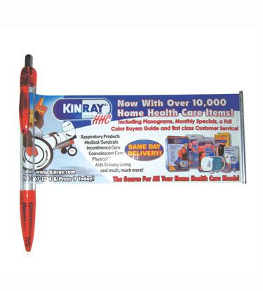 עט עם קלף נישלף מודפס צבעוני עם גרפיקת הלקוח BM0418