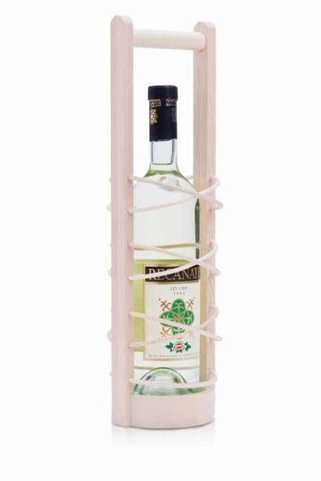 סטנד מעוצב מעץ לבקבוק יין BM4966