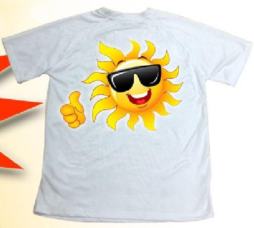 חולצות דריי פיט עם הדפסת פרוצס צבעונית