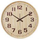 שעון קיר עשוי במבוק לוח עץ טבעי BM5610