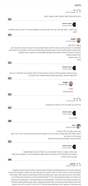 תגובות על הפוסט שפרסמתי בהבלוגרים