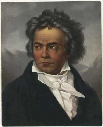 דיוקן של בטהובן מאת פרדיננד שימון